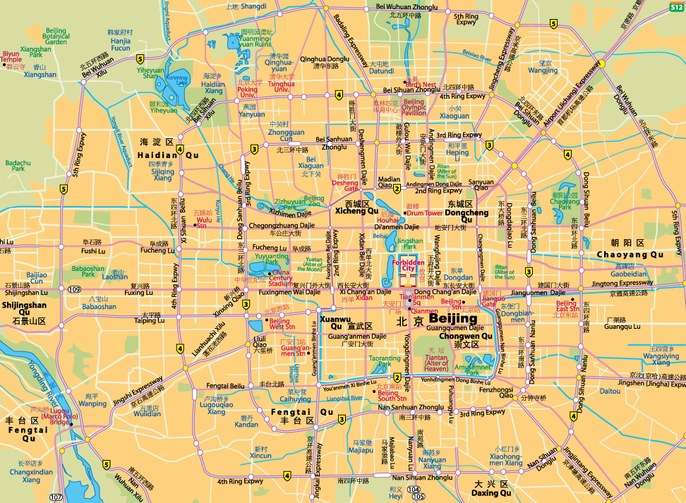 Beijing China  city photos : Beijing Road Map] [ Metro Map of Beijing ] [ Beijing City Centre Map ...