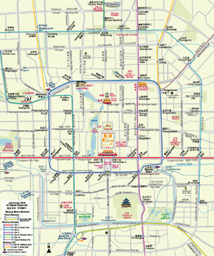 Map of Beijing City Centre