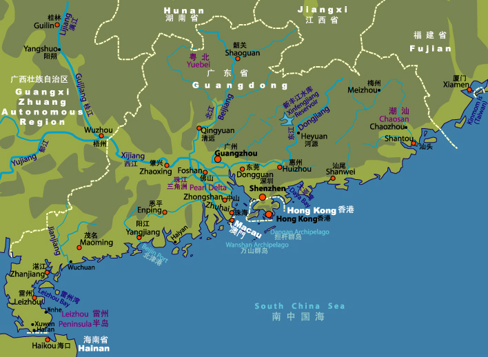Qingyuan China  city pictures gallery : Click on Pearl Delta Region to zoom in
