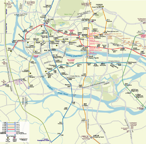 Metro Map of Guangzhou