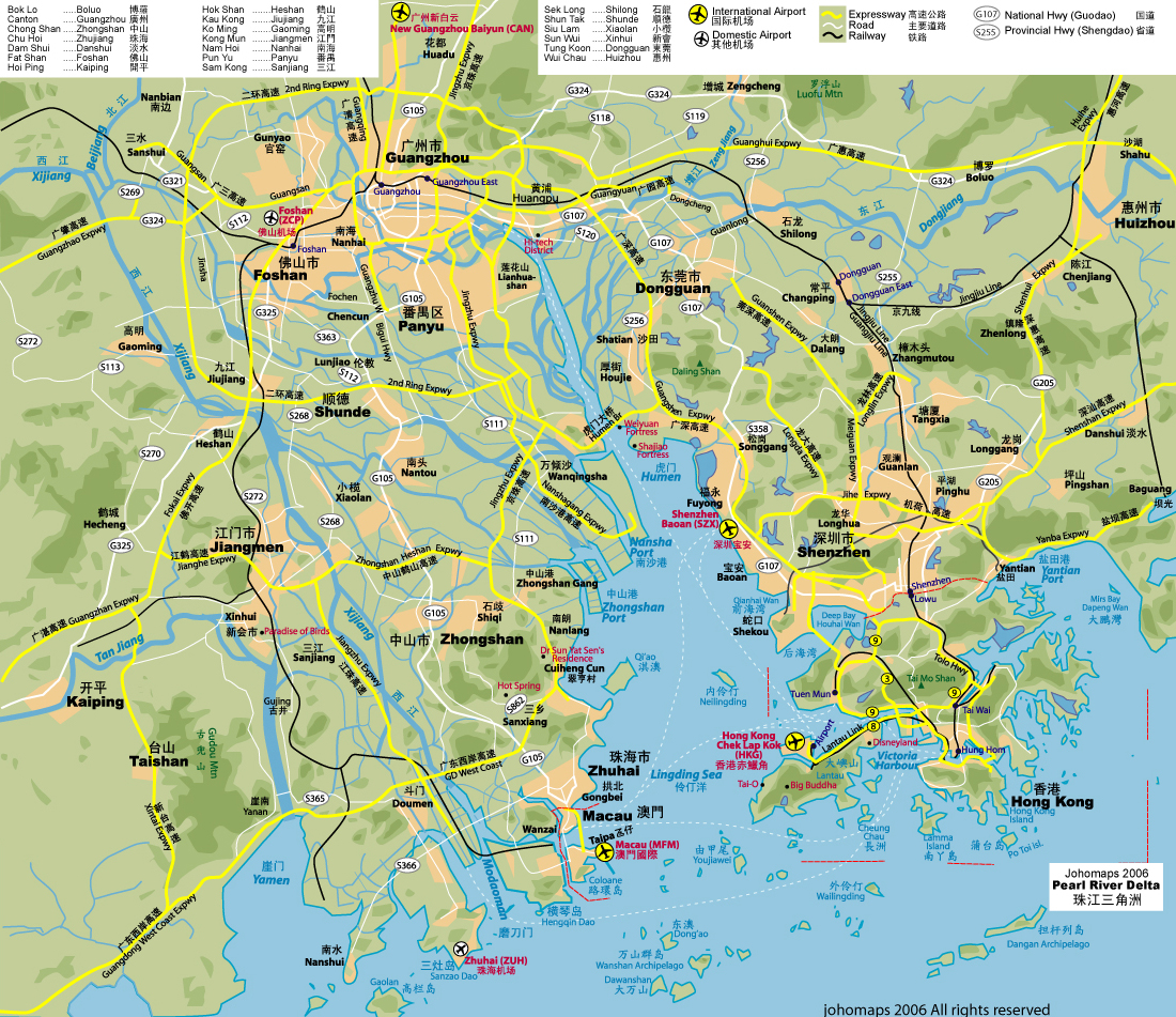 Map of the pearl river delta map of the pearl delta gumiabroncs