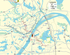 Metro Map of Wuhan