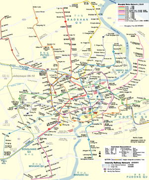 Metro Map of Shanghai