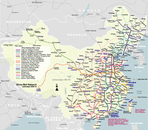 Rail Map of China