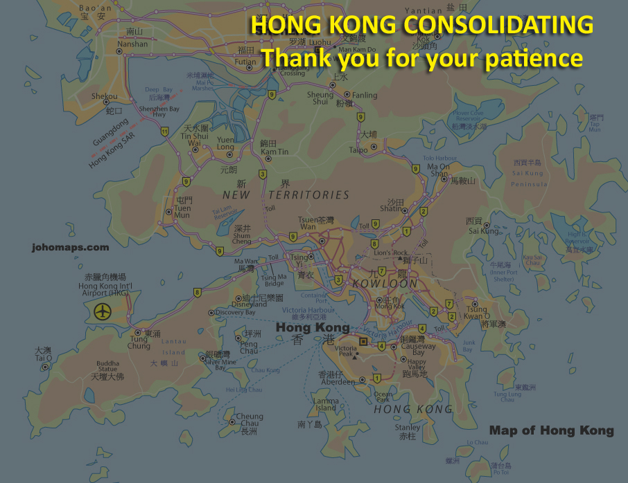 Map of Hong Kong JohoMaps