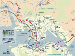Metro Map of Hong Kong