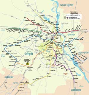 Metro Map of Delhi