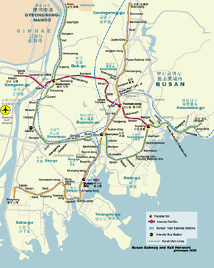 Metro Map of Busan