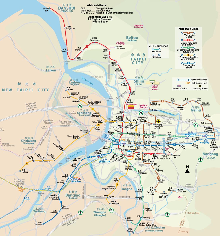 Metro Map of Taipei - JohoMaps