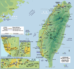 Rail Map of Taiwan