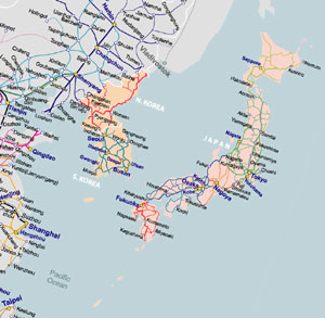 Rail Map of Northeast Asia