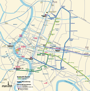 Metro Map of Bangkok