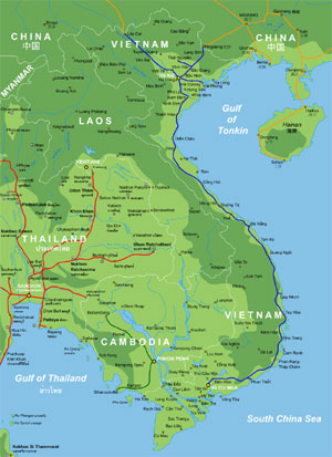 Rail Map of Vietnam