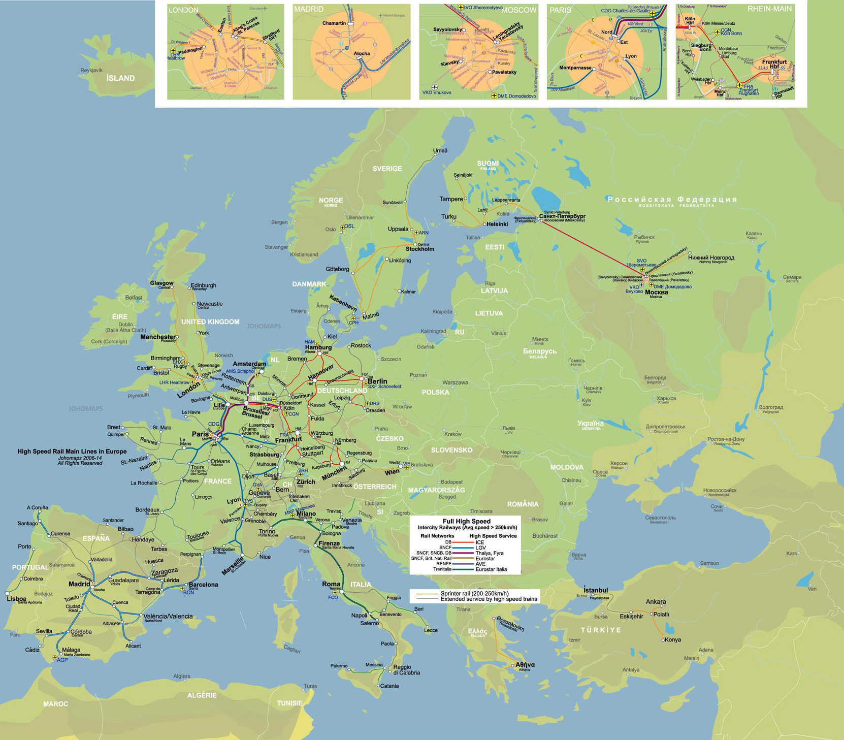 Map Of Europe Rail