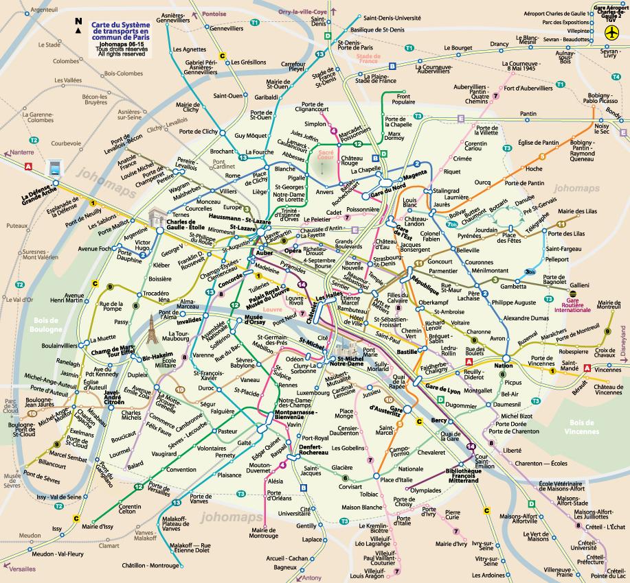 Carte de paris for Carte paris touristique
