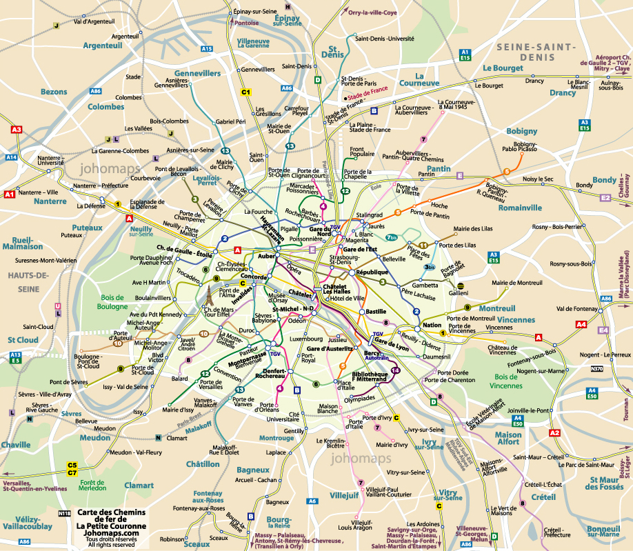 paris mapa. Paris / Metro Map of Paris