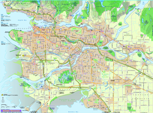 Highway Map of Vancouver