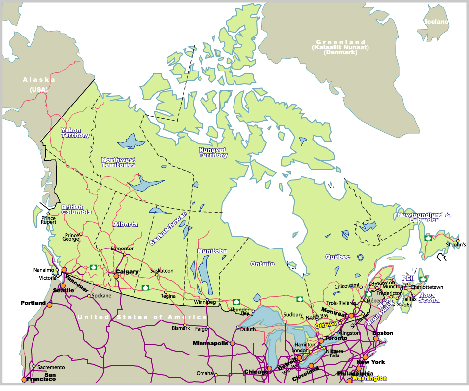 Map Of Canada Highways.Map Of Canada Johomaps