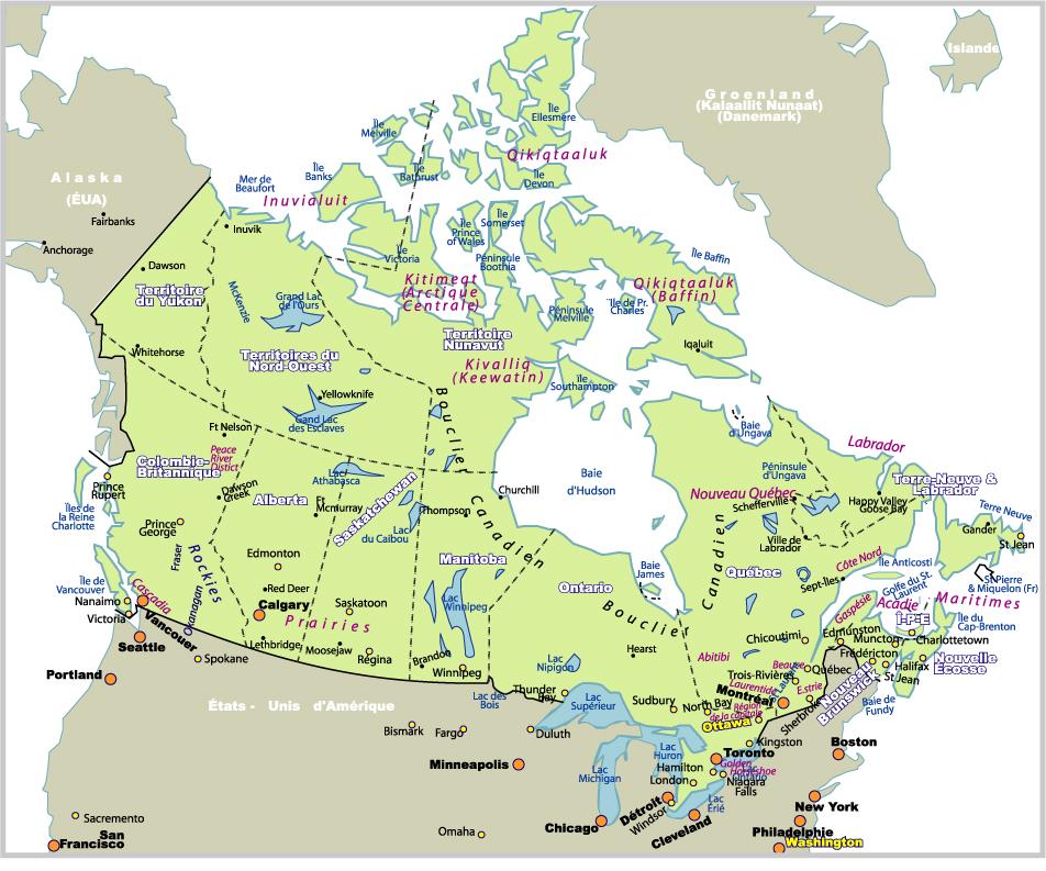 Carte Canada Montreal.Carte Montreal Canada