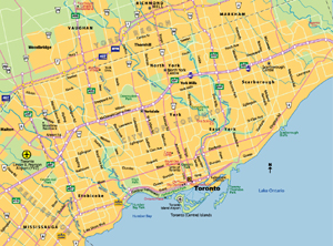 Highway Map of Toronto