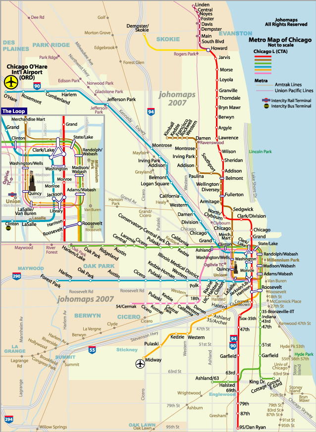 Chicago Subway Map Images