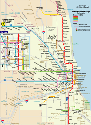 Metro Map of Chicago