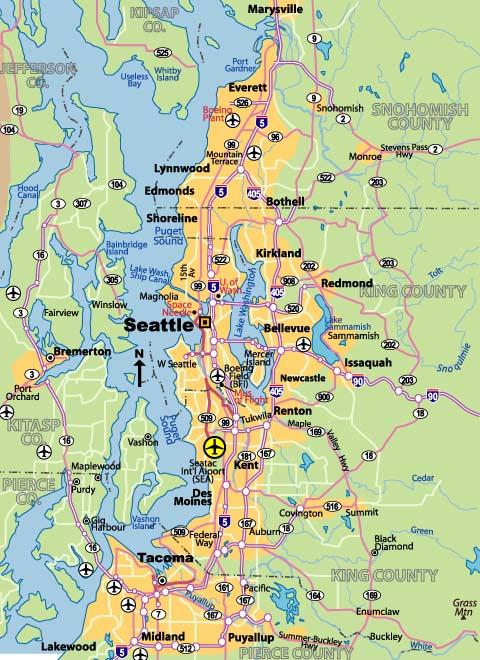 Map Of Seattle  JohoMaps