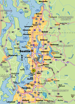 Highway Map of Seattle