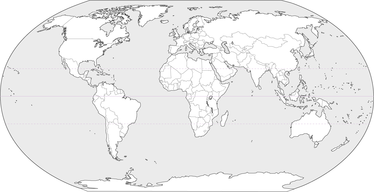 Blank World Map (Black and white) - JohoMaps